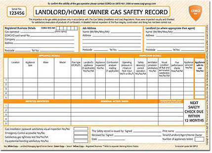 A image of a gas safety certificate